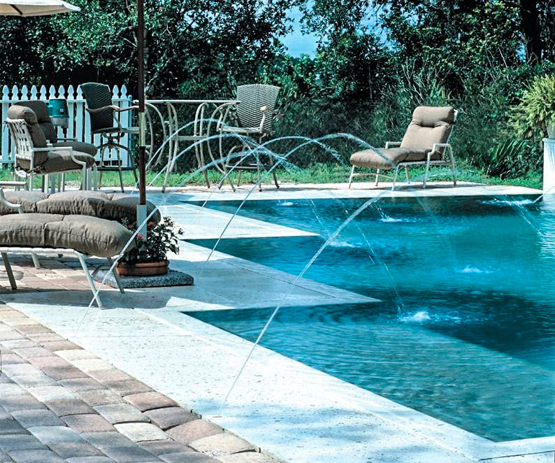 Attractions for swimming pools: Waterfall, Cannon, Acoustic for ...